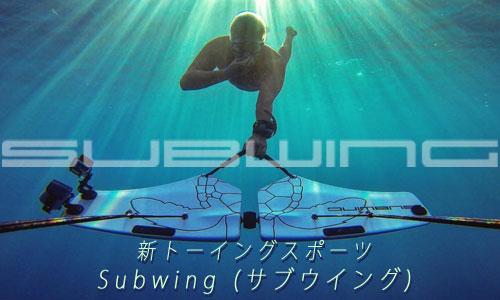 新トーイングスポーツ なんと!水中をトーイング、まさにイルカのように自由自在