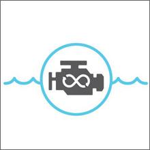海水や異物がエンジンに侵入するのを防止