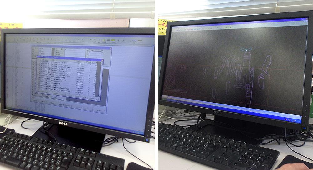 パソコン上で型紙を作成