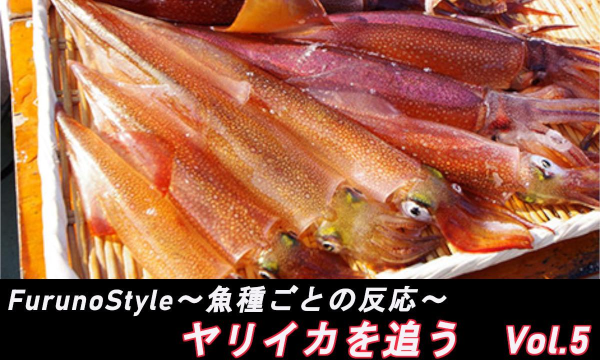 新着!フルノスタイル~魚種ごとの反応~【ヤリイカを追う Vol.5】