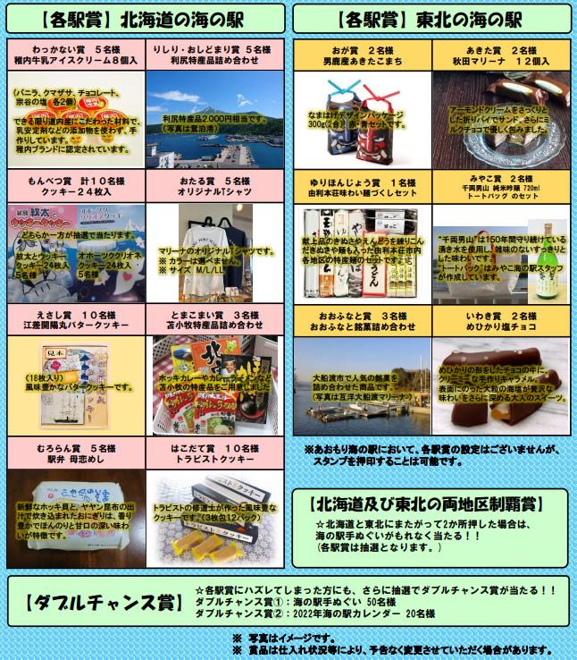 北海道+東北 「海の駅スタンプラリー2021」