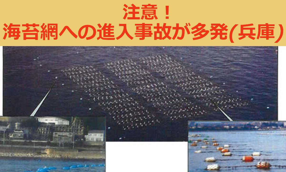 注意!のり網養殖施設への進入事故が多発 (兵庫瀬戸内)